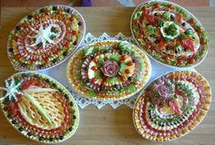 Pretty food platters for the buffet table