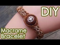 巻き結びブレスレットの作り方【マクラメ編み】SEDONA Vortex Stone Beads Macrame Bracelet Tutorial - YouTube