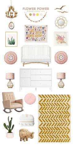 Vintage Floral Baby Room Ideas