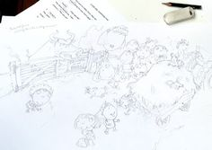 Illustrating a new picture book: starting the roughs - Lynne Chapman - An Illustrator's Life For Me!