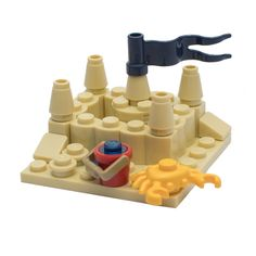LEGO Beach Sand Castle for Minifigure with Crab and Bucket | eBay