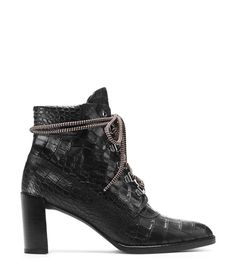 Stuart Weitzman <span class='plpItemName'>GIGI BOOT<br/></span><span class='plpGroupName'> in Embossed Leather</span> Booties Boot
