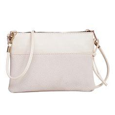 새로운 도착 5 색 패션 PU 가죽 여성 메신저 가방 여성 봉투 클러치 핸드백 여성 어깨 가방