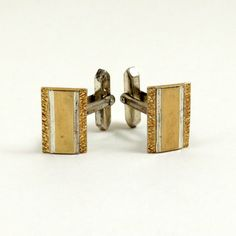 Vintage Sterling Silver Cufflinks 9k Gold 9ct Gold on by mybooms