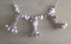 Barnevognskæde med små giraffer