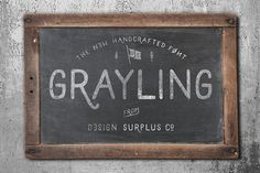 Grayling Font by Design Surplus on @creativemarket
