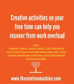 Creative activities on your free time can help you recover from work overload (and improve job performance)!