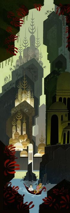Eyvind Earle - click through to read about 50s Disney animation work