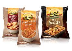 McCain food products packaging single serve bags.  #sachet #plastiques #plastic #bags #pillow #single #serve #emballage  #zip  #sacs#souple #packaging