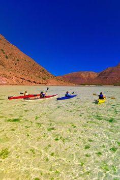 niceoutdoors: Sea kayaking in El Cardonal Bay, Isla Espiritu... - All things Mexico.
