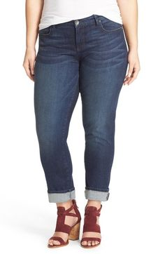 KUT from the Kloth 'Catherine' Stretch Boyfriend Jeans (Carefulness) (Plus Size) available at #Nordstrom