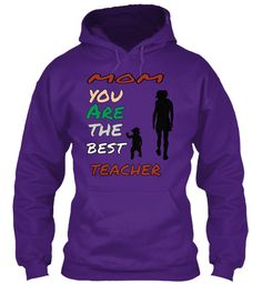 Mom You Are The Best Teacher Purple T-Shirt Front