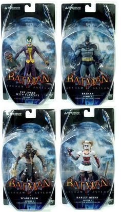 Amazon.com: Batman Arkham Asylum Series 1 Figure Set Of 4: Toys & Games