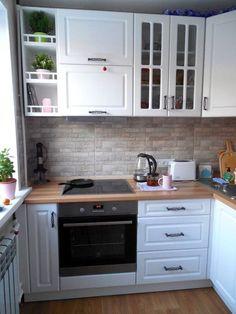 New small kitchen remodel ikea layout Ideas Small Kitchen Cabinets, Ikea Kitchen Design, Kitchen Stove, Kitchen Sets, Interior Design Kitchen, Kitchen Decor, Soapstone Kitchen, Kitchen Countertops, Kitchen Layout