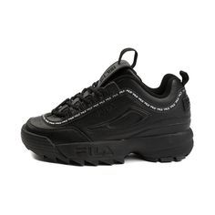 info for 96d11 5bb66 Womens Fila Disruptor II Athletic Shoe - Black - 452026 Black Fila Shoes,  Fila Disruptors