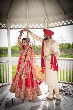 Manpreet and gagan wedding dresses