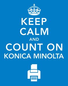 Just when you think you've seen every variation possible! . - From Konica Minolta, Spain