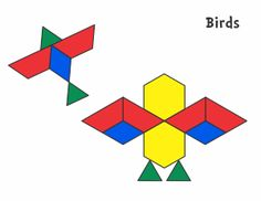 Animals - Jessica's Corner of Cyberspace Tangram Printable, Templates Printable Free, Printable Designs, Pattern Block Templates, Pattern Blocks, Bird Patterns, Shape Patterns, Teacher Supply Store, Activities For Kids