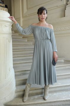 Milla Jovovich wearing a Valentino dress from the Fall/Winter 2016-17 Collection  to the Valentino Haute Couture Fall/Winter 2016 - 2017 Fashion Show on July 8th  2016.