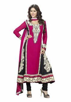 Fabdeal Indian Designer Faux Georgette Black Embroidered Salwar Kameez Fabdeal, http://www.amazon.de/dp/B00INWLB3M/ref=cm_sw_r_pi_dp_Ql7otb1FRYGVY