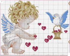 Thrilling Designing Your Own Cross Stitch Embroidery Patterns Ideas. Exhilarating Designing Your Own Cross Stitch Embroidery Patterns Ideas. Cross Stitch Fairy, Cross Stitch Angels, Cross Stitch For Kids, Cross Stitch Heart, Counted Cross Stitch Patterns, Cross Stitch Designs, Cross Stitch Embroidery, Cross Stitching, Embroidery Patterns