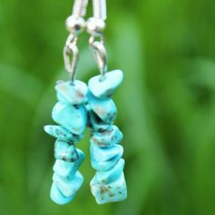 Turquoise-Earrings Jade Crystal, Turquoise Earrings, Jewelry Shop, Christmas Ornaments, Crystals, Holiday Decor, Shopping, Xmas Ornaments, Jewelry