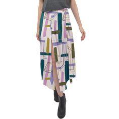 Modernist Pink Split Maxi Skirt Velour Fabric, Midi Skirt, Elegant, Skirts, Pink, How To Wear, Fashion, Classy, Moda