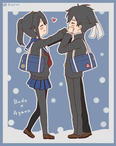 Ayano x budo(that's sweet,forget about senpai,ayano.Budo-senpai right in front of you! Yandere Simulator Characters, Yandere Simulator Memes, Anime Characters, Animes Yandere, Yandere Anime, Ayano X Budo, Yendere Simulator, Otaku, Dibujos Cute