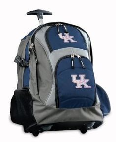d54655a016 Amazon.com   Kentucky Wildcats Rolling Backpack Ladies University of  Kentucky or CarryOn Suitcase Bag