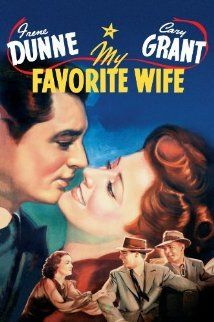My Favorite Wife (1940) Cary Grant and Irene Dunn team up again for this screwball comedy!   A wife (Dunn) who was shipwrecked on an island for seven years finally is rescued and returns home to find her husband (Grant)  remarried!  She wants her husband back.  The fun begins!  This movie was remade starring Doris Day and James Garner in Move Over, Darling.