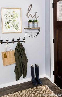 entryway #entryway #frontdoor #hooks #breezeway #foyer #hi #signs #walldecor #boots #shoes #rainboots #rug #rustic #farmhouse #affiliate