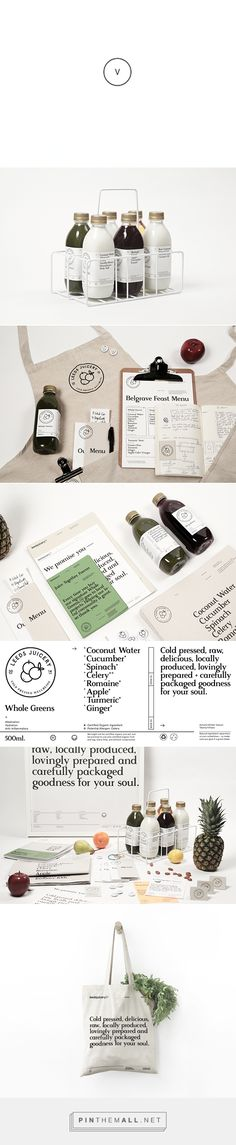 Leeds Juicery on Behance curated by Packaging Diva PD. The first cold-pressed juice company in Leeds identity packaging branding and local too.