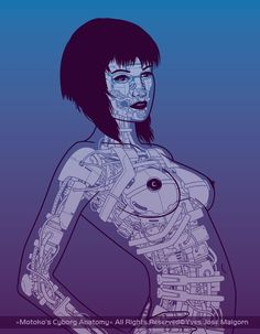 Motoko Kusanagi's Cyborg Anatomy (Ghost In The Shell)