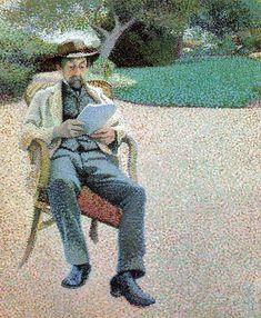 Henry van de Velde Belgian, 1863-1957 Pere Biart Reading In the Garden