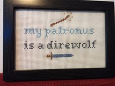 Game Of Thrones Harry Potter Mashup Funny Cross Stitch Framed