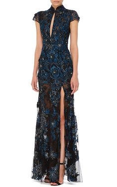 Patricia Bonaldi Embroidered and Beaded Cap Sleeve Dress - Preorder now on Moda Operandi