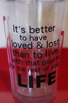 $13.00 break up or divorce motivation cup