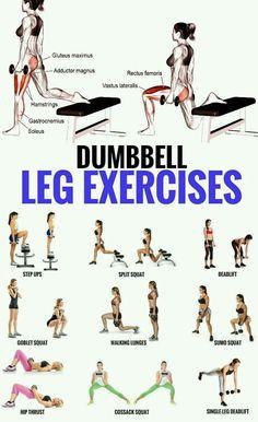 Top 5 Dumbbell Exercises for A Leg-Destroying Workout . - Top 5 Dumbbell Exercises for A Leg-Destroying Workout - Dumbbell Leg Workout, Sixpack Workout, Weighted Leg Workout, Body Weight Leg Workout, Muscular Legs Workout, Toned Legs Workout, Leg Workout Women, Best Leg Workout, Hamstring Workout
