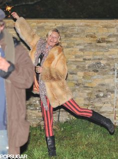 Pin for Later: 34 Undeniable Reasons Kate Moss Is a Boss She Plays With Fireworks While Drinking Beer Bonfire Night London, Kate Moss, Popsugar, London Fireworks, Fireworks Festival, Party Pictures, Paige Denim, Playing Dress Up, Black Stripes