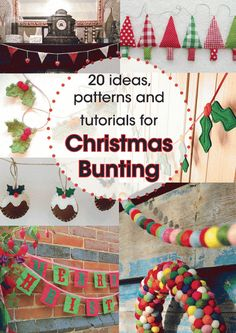 Christmas bunting. Links to lots of great ideas and tutorials. Makes me feel so Christmasy just looking at it. Want to make it ALL!!