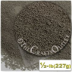 8-OZ (227g) Opaque Finish, Glass, Microbeads 0.6mm, Opaque Charcoal Gray
