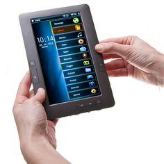 eBook LO+DEMODA de 4GB, con pantalla TFT de 7 pulgadas, en color gris. Reproduce varios formatos de vídeo: RM, RMVB, AVI, MP4, MOV, 3GP, MKV, VOB, MPG, FLV y dispone de interfaz de salida de TV 720p (CVBS).