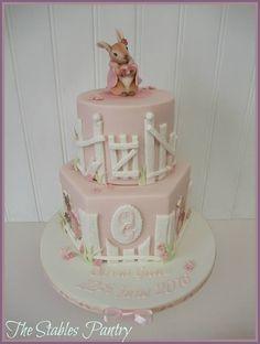 Two tier Flopsy Bunny cake - Beatrix Potter