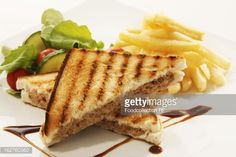 Stock Photo : Toasted tuna sandwich with chips on white background Sandwich Toaster, Fruit Drinks, Cher, Tuna, Sandwiches, Ethnic Recipes, Food, Fruity Drinks, Toasted Sandwich Makers