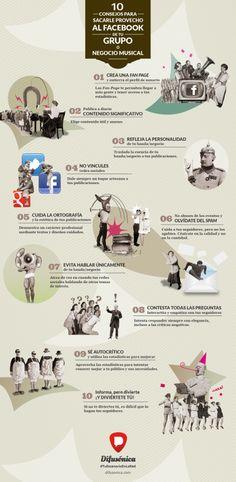 #Infografia #RedesSociales 10 para el Facebook de tu banda o negocio musical. #TAVnews