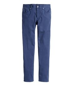 5-pocket pants in washed, slightly stretchy twill with slim legs and a regular waist.