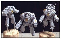 Miniature Tim: Heresy-Era Salamanders Work in Progress: Tartaros Terminators