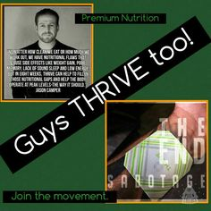 Hey guys, Thrive isn't just for the ladies. All of us can benefit, from this awesome sauce. I do. https://trailrunner1.le-vel.com/