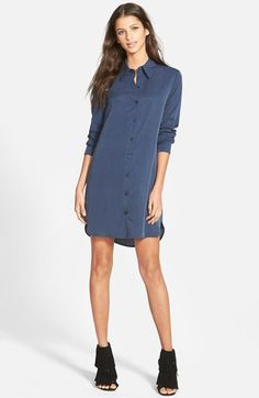 Wayf Button Front Shirtdress | Nordstrom