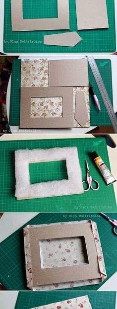 MATERIAIS: Papelão tecido cola tesoura fibra régua Seguir passo a passo